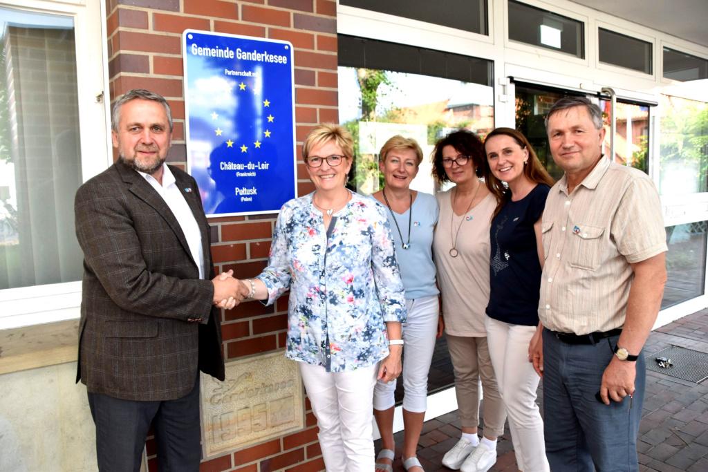 Burmistrz Miasta Pułtusk – Wojciech Gregorczyk z delegacją z Pułtuska podczas wizyty w mieście partnerskim Ganderkesee z Burmistrz Alice Gerken