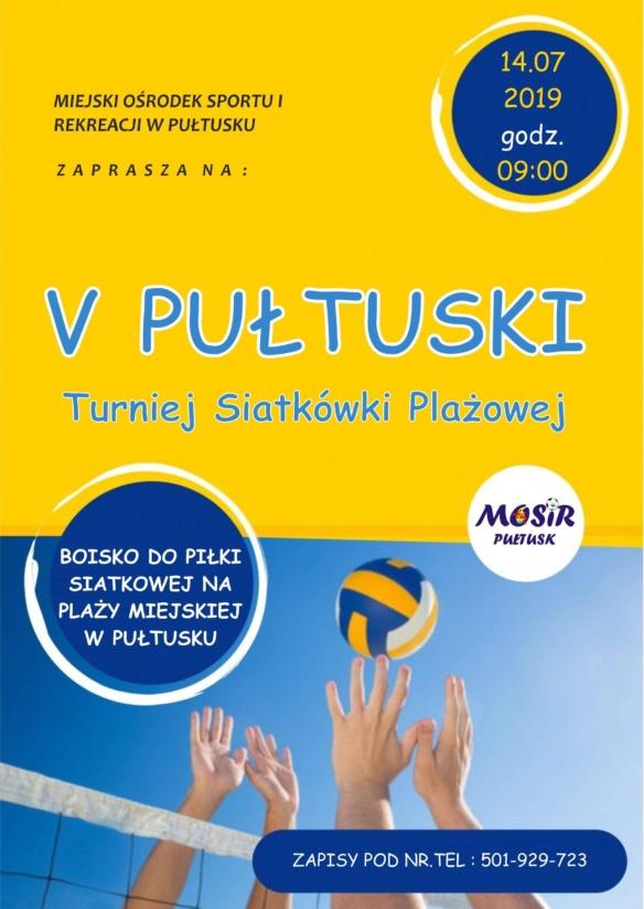 plakat zaproszenie na turniej siatkówki plażowej