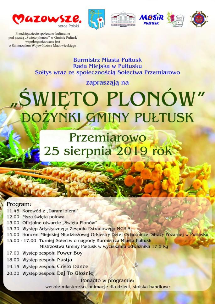 plakat święto plonów 2019