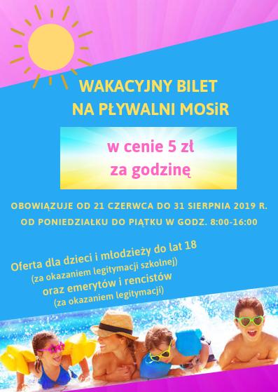 promocje na basenie - bilet za 5 zł