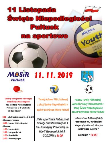 plakat 11 listopada sport