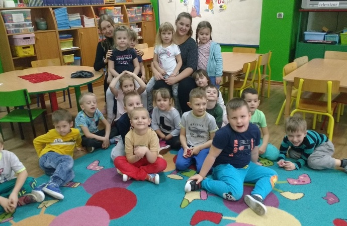 Wolontariat Europejski w Przedszkolu - grupa przedszkolaków