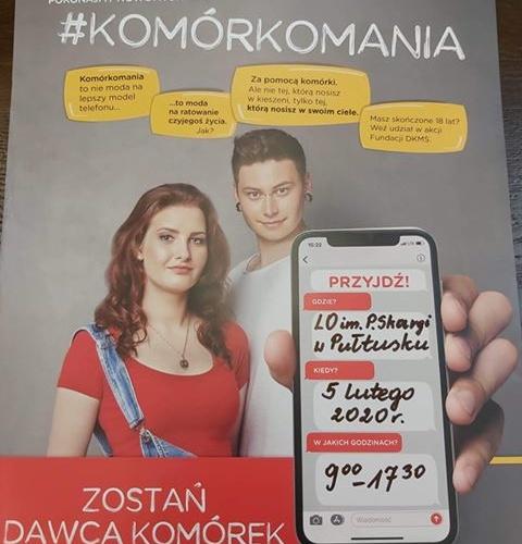 Dzień Dawcy Szpiku w Liceum Ogólnokształcącym im Piotra Skargi w Pułtusku