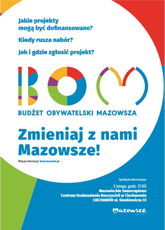 Budżet Obywatelski Mazowsza – ogłoszenie o spotkaniu