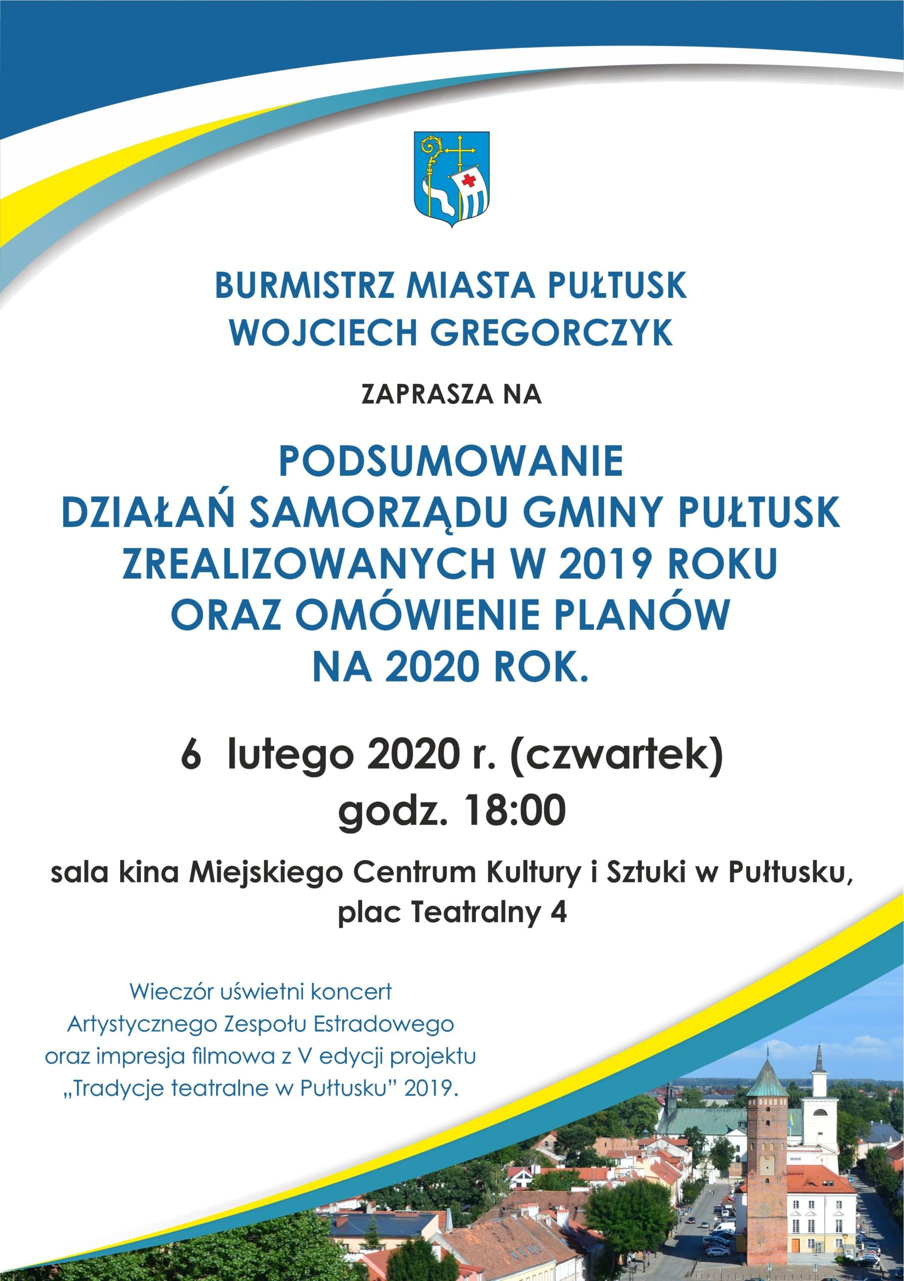 plakat – zaproszxenie na spotkanie z burmistrzem