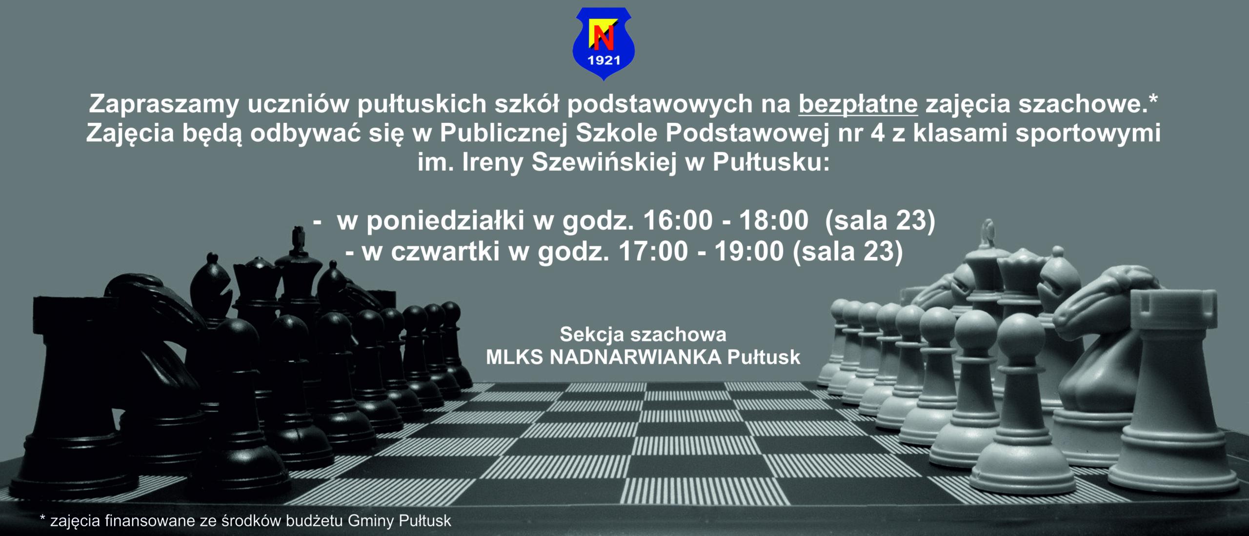 Zapraszamy na zajęcia szachowe