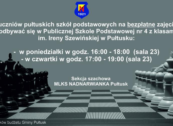 Zajęcia szachowe- zaproszenie kliknij