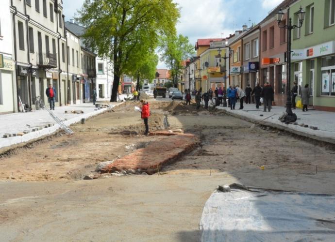 Znalezisko - mury miejskie z XVI w.