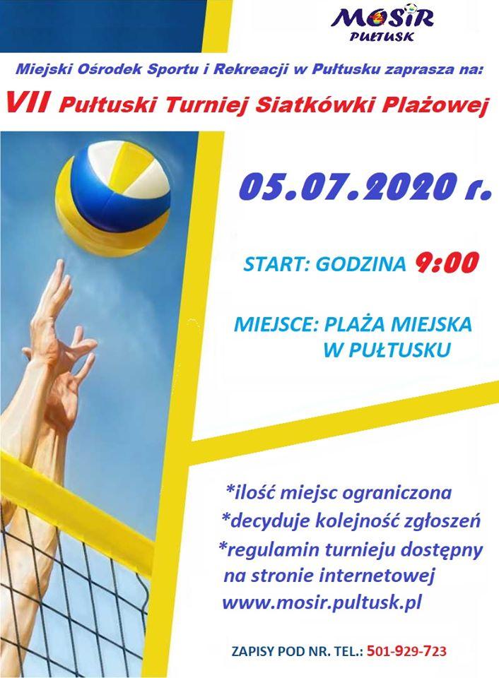 plakat zaproszenie na turniej siatkówki