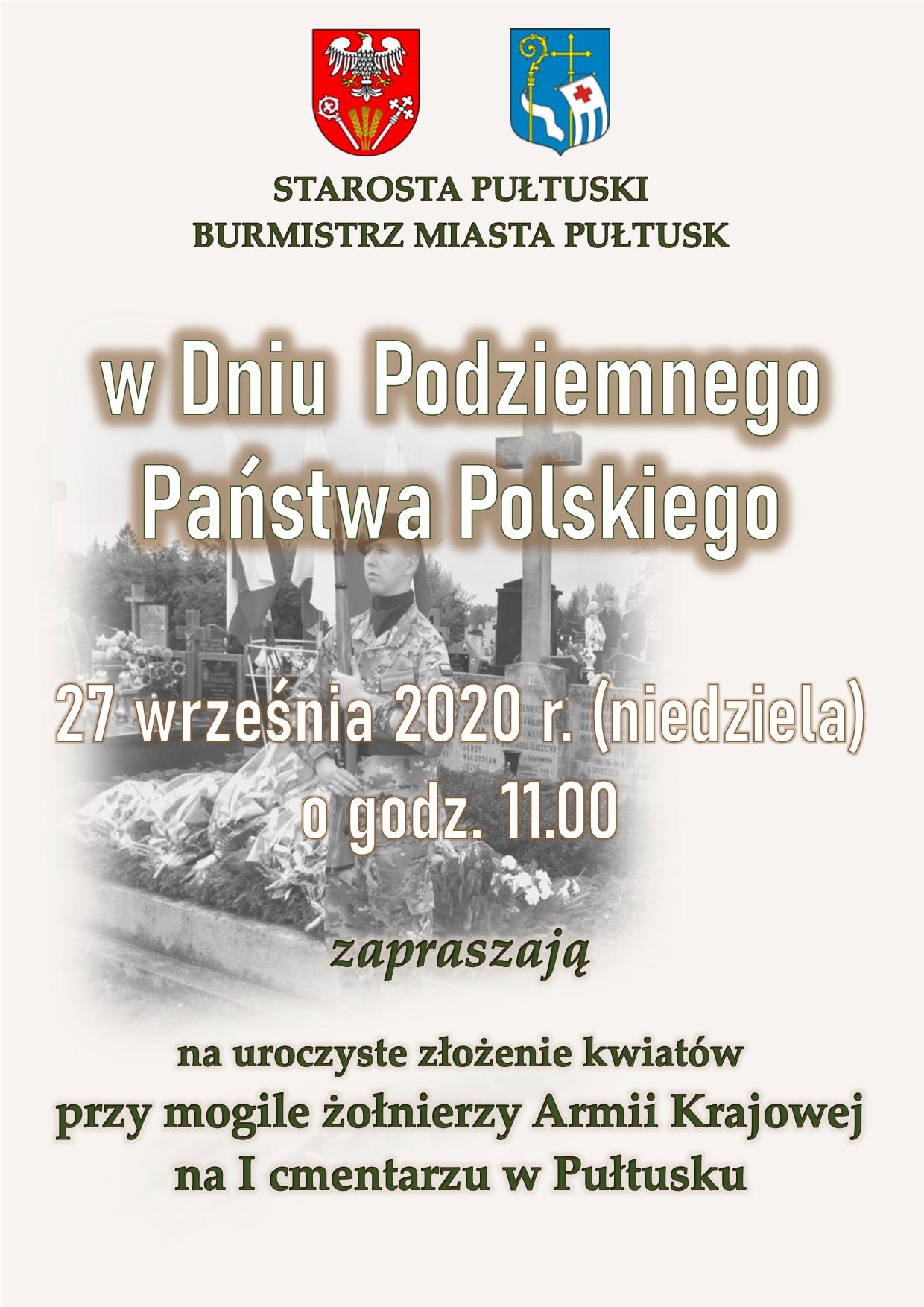 Dzień Podziemnego Państwa Polskiego- zaproszenie