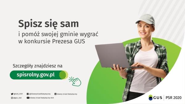 Plakat Konkursu Powszechnego Spisu Rolnego