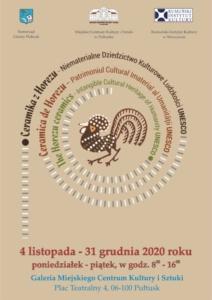 """WYSTAWA """"Ceramika z Horezu - Niematerialne dziedzictwo Kulturowe Ludzkości UNESCO"""" @ pl. Teatralny 4"""
