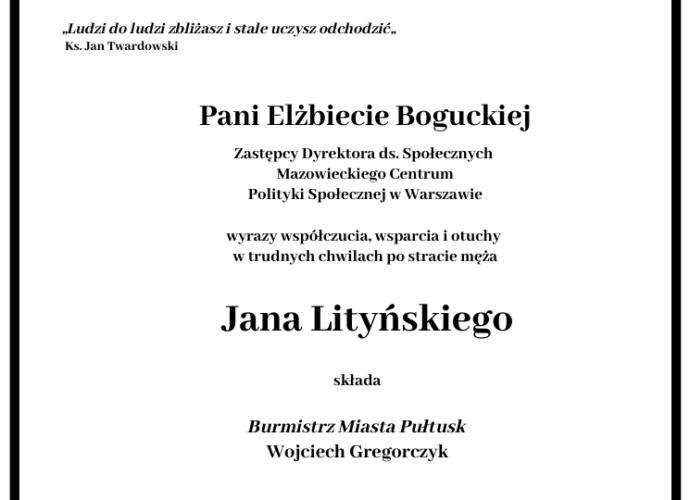 kondolencje Elżbieta Bogucka