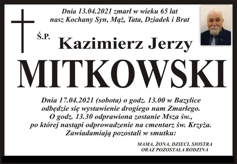 Mitkowski nekrolog dom pogrzebowy Kraszewski 1