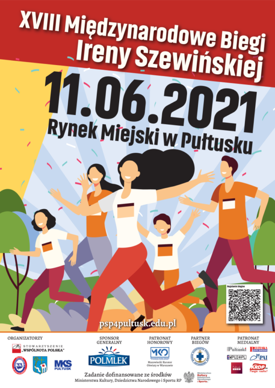 Plakat XVIII Międzynarodowych Biegów Ireny Szewińskiej